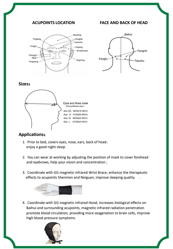 Far-infrared magnetic therapeutic Eyes and Nose mask